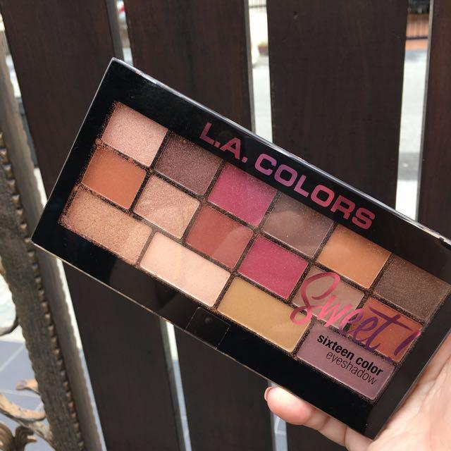 Ready Stock La Color Sweet 16 Eyeshadow Palette Health Beauty