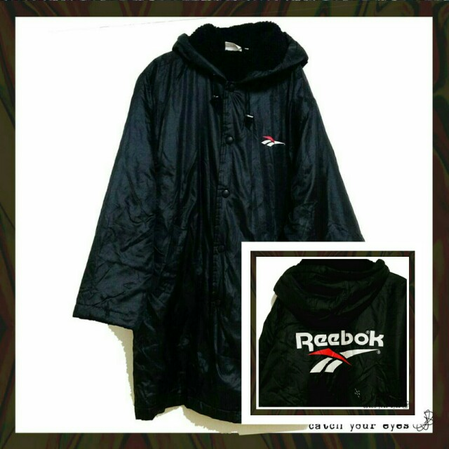 Reebok長版鋪棉刷毛大衣