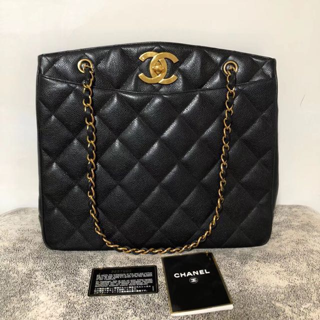 567750a075c9 Reserved  Chanel caviar big CC tote full set almost!