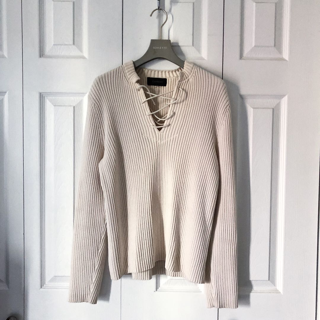 RIBBED SWEATER, EXPRESS.