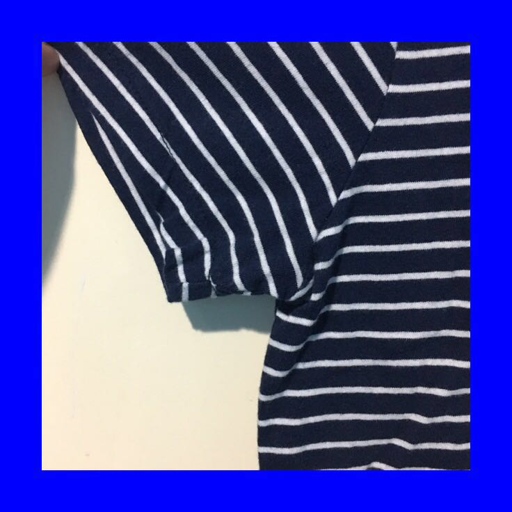 rolla's navy blue striped tee
