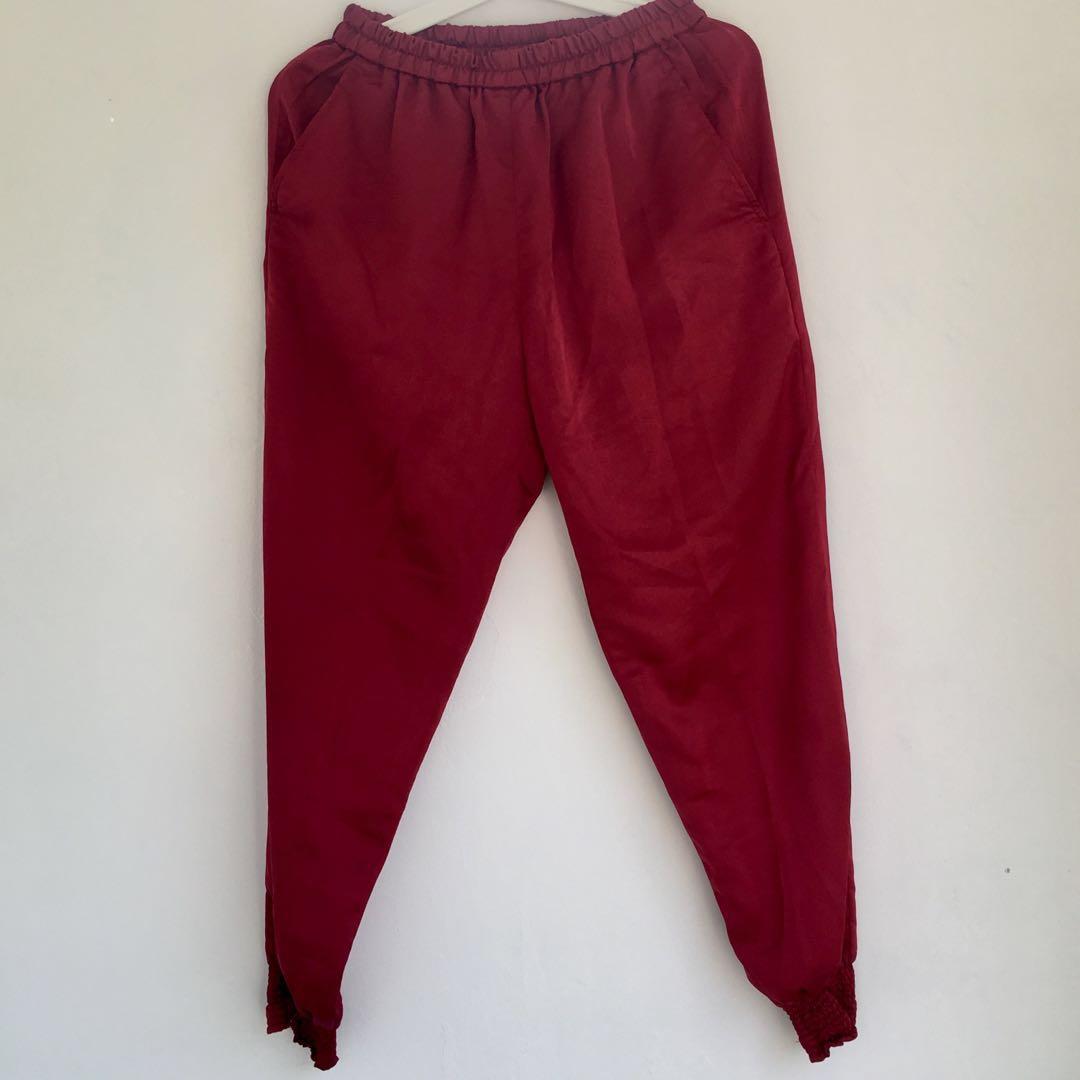 satin pants