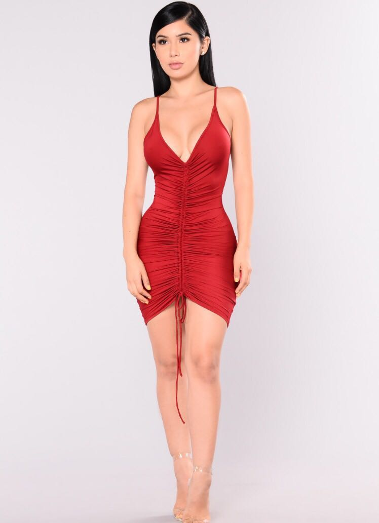 Sexy Red Fashion Nova Dress