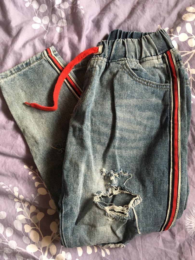 Side Striped Jeans