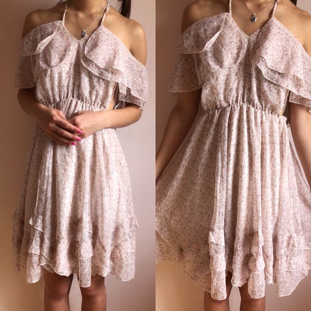 Size 6-8   Pink Floral Dress