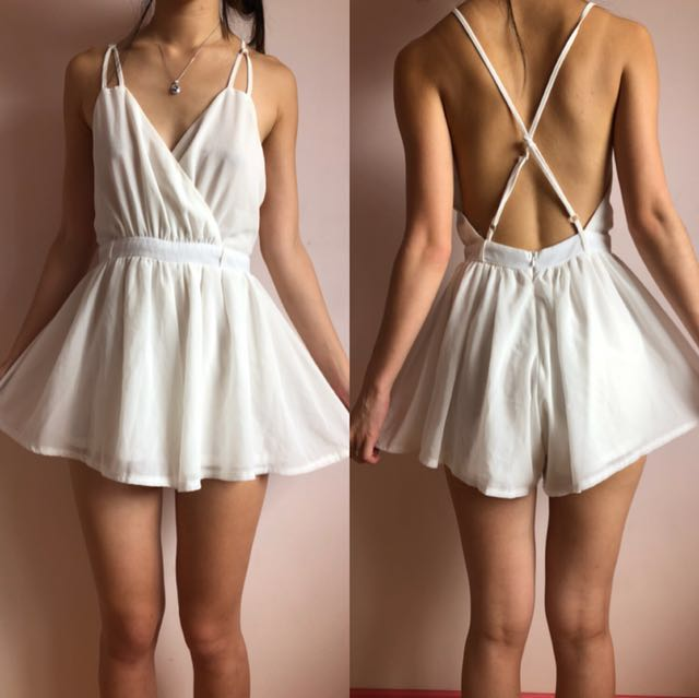 Size XS   Shareen White Playsuit