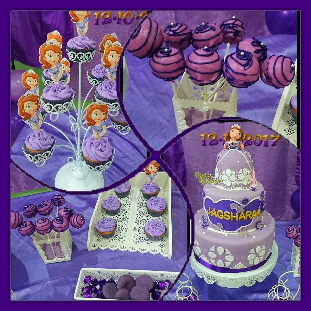 Outstanding Sofia The First Birthday Cake Cake Pops Cupcakes Food Drinks Personalised Birthday Cards Akebfashionlily Jamesorg