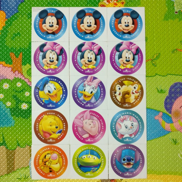 迪士尼貼紙stickers 一連版