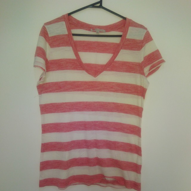 Striped red and off white shirt