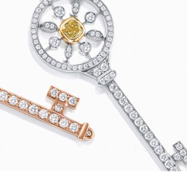 Tiffany imitated Cubic Zirconia Diamond Key Pendant