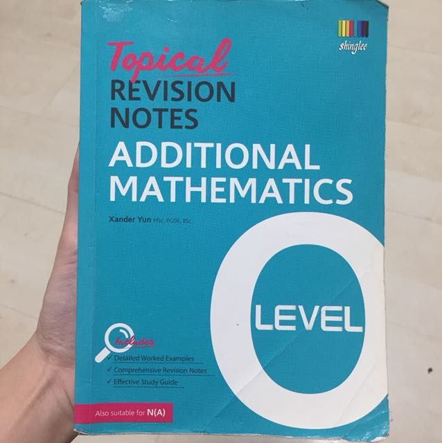 Topical revision notes - additional mathematics - o level