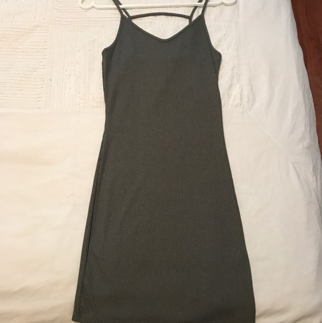 Topshop Army Green Dress