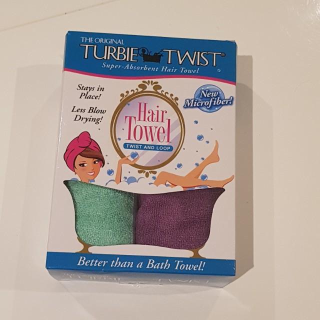 Turbie Twist microfibre hair towel