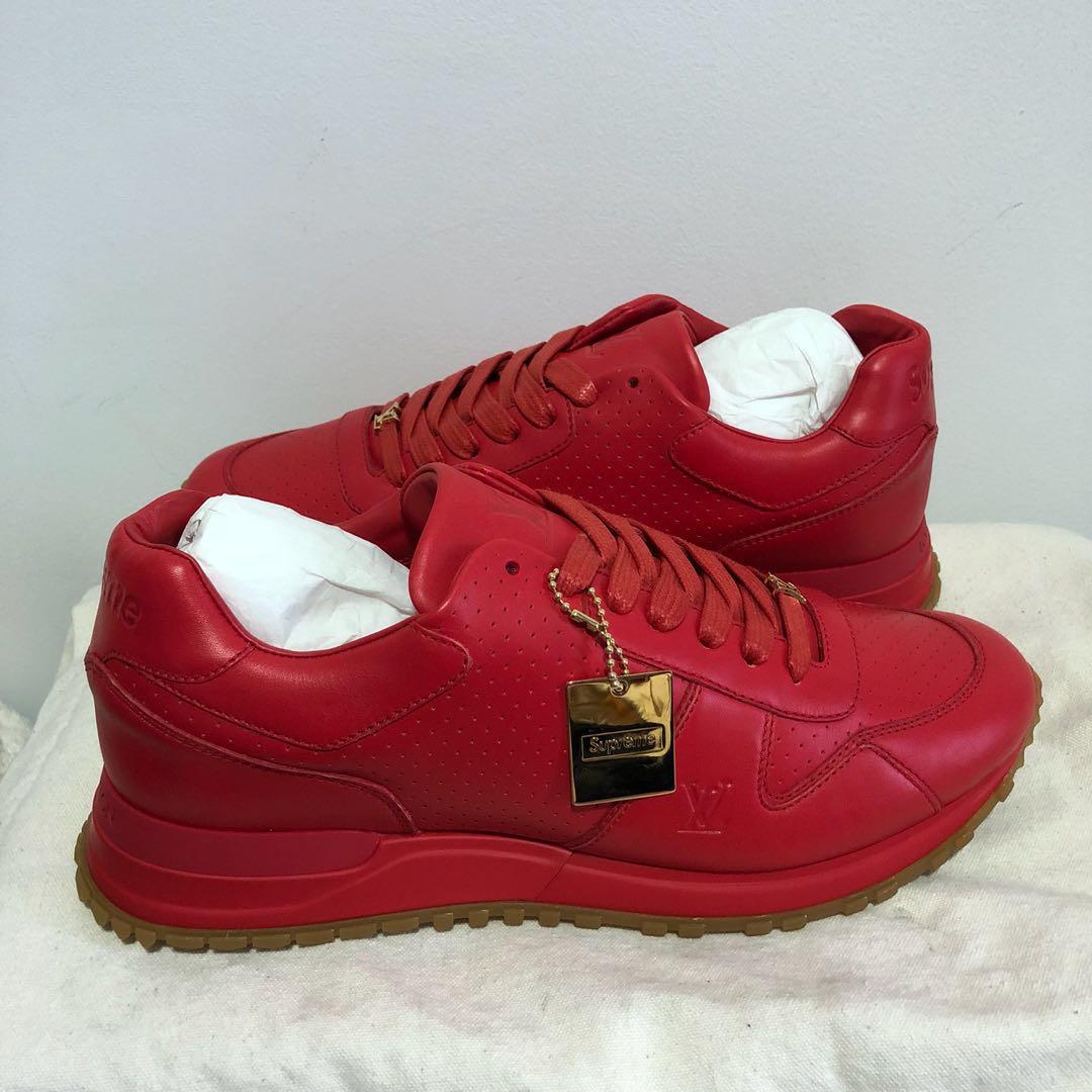 341846a6daa UK6.5 LV x Supreme Runaway Sneakers, Men's Fashion, Footwear ...