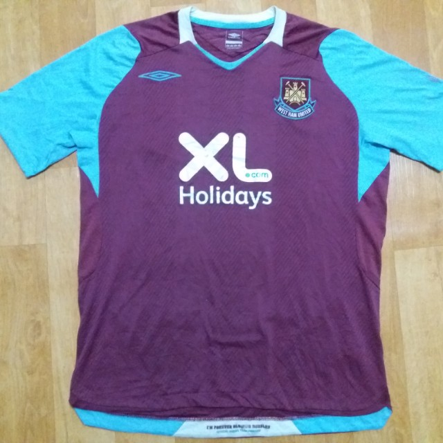 new styles 98816 b5982 Umbro West Ham Home Jersey 08 09