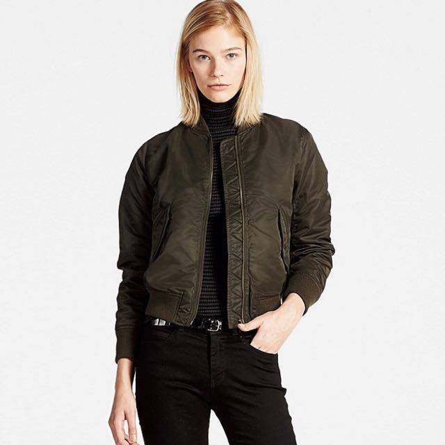 Uniqlo womens bomber jacket