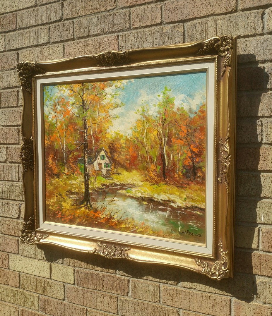 Walter Pranke Oil painting- Canadian artist- winter scene
