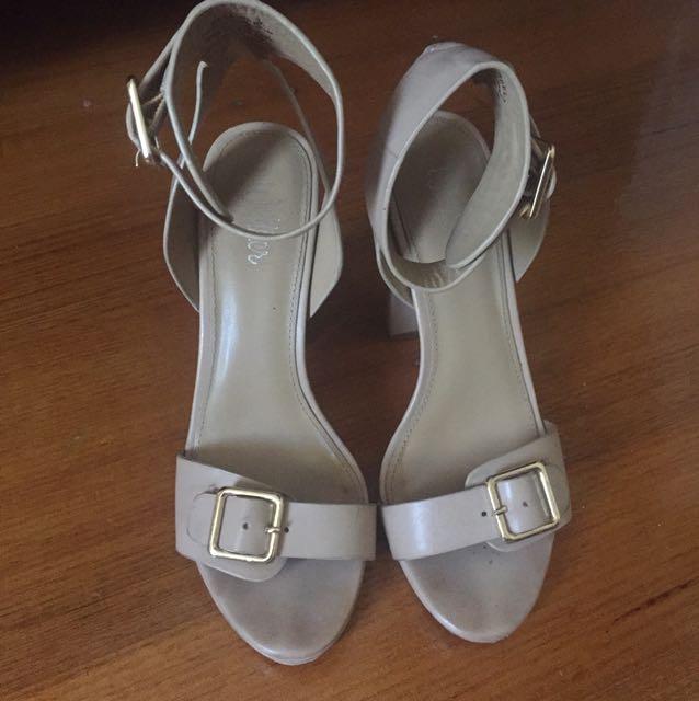 Wittner nude strap heels size 36