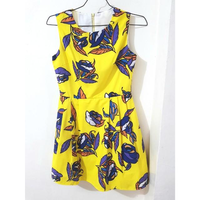 Yellowflorishswingdress
