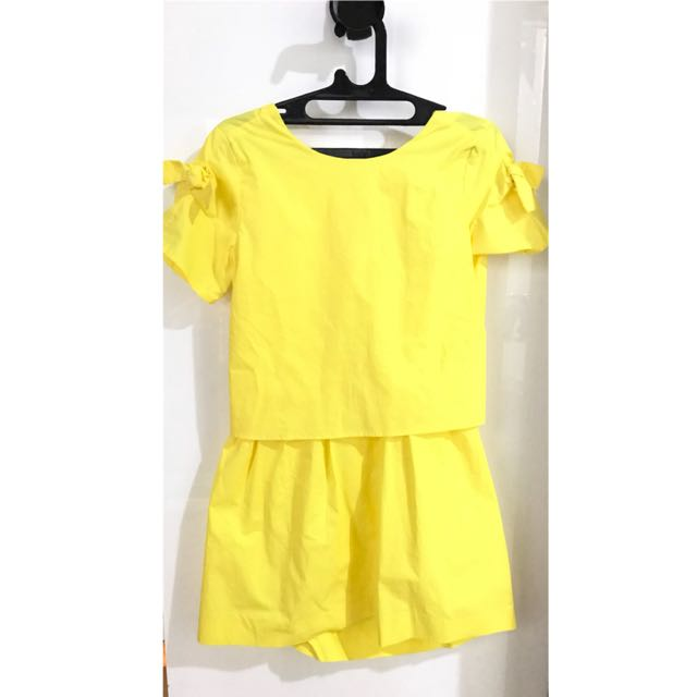 Zara Girls Yellow Dress