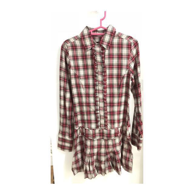 Zara TRF Checked Shirt Dress