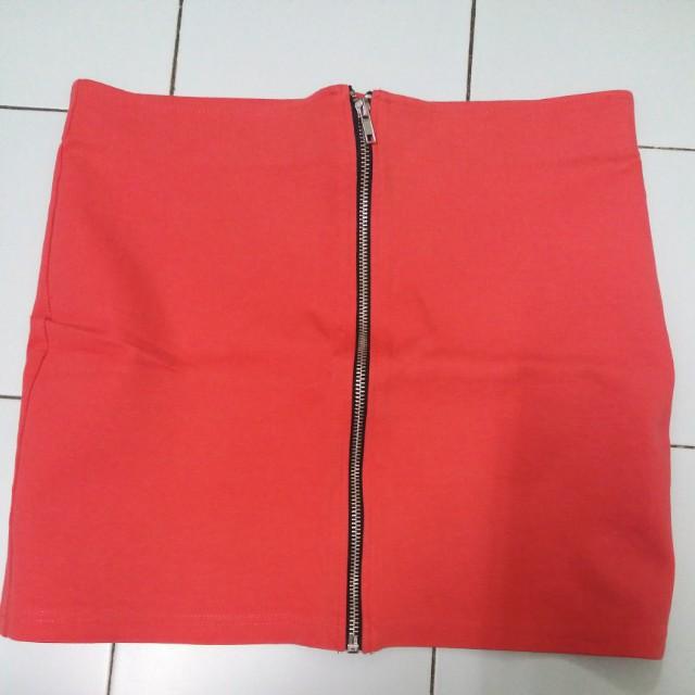 Zipper Body Hugging Mini Skirt