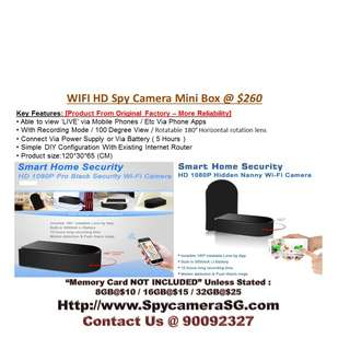 Spy CAMERA BLACK BOX WIFI IP With inner Rotating Lens