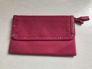 YSL Raspberry Clutch/Pouch