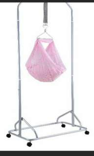 Chrome Spring Cot with net
