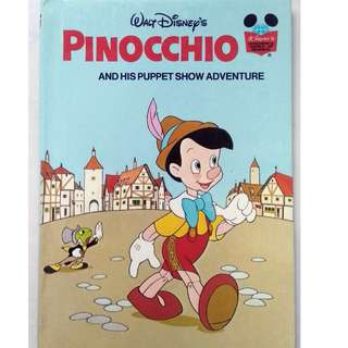Preloved Disney Story Book - Pinocchio