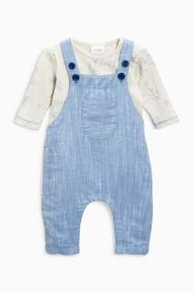 Brand New 2 Piece Romper and Overalls