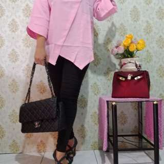 Blouse geisha pink