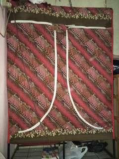 Rak Baju Kain Jumbo dengan Rak Sepatu