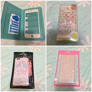(激抵包郵)換機割愛 Iphone 6 Plus Case 全新手機套連保護貼四件裝