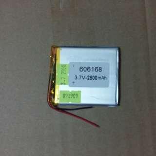 606168 3.7V 2500mAh 聚合物鋰電池