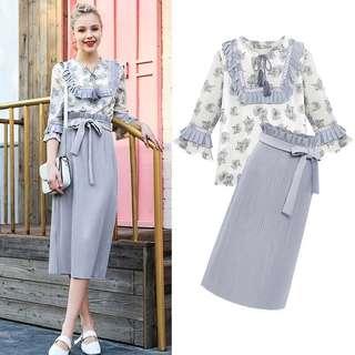 MG sweet lady 2 piece dress set