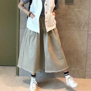 kiki.co 明線白色牛仔裙