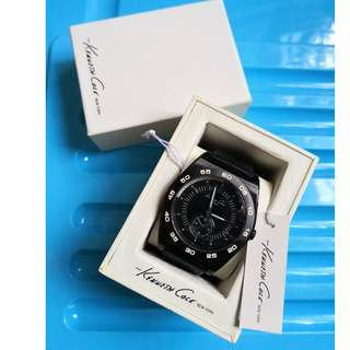 Used - Kenneth Cole Men's Fashion Genuine Leather KC1446 Watch (Plus gift size box)