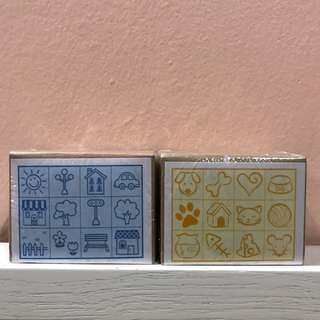 Classic Wooden Stamp Set