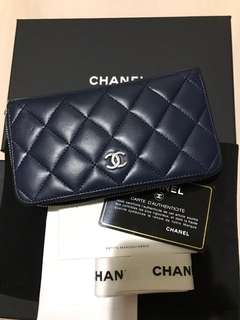 CHANEL small wallet lamb skin