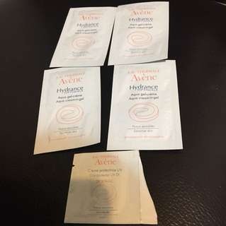 (包郵)Avene hydrance aqua gei旅行裝四包送dat protector1包