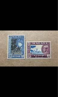 Malaya stamps mint 2v Sultan def 50c, $1