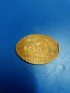Scotland Elongated Souvenir Coin