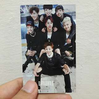 BTS DARK&WILD (group photocard)