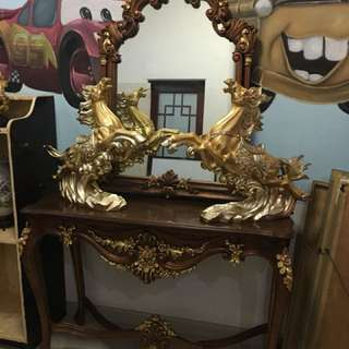Mirror and console table only