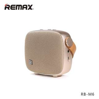 Original REMAX RB-M6 Desktop Smart HIFI FM Radio Wireless Bluetooth 4.1 Speaker With NFC Mic, Gold