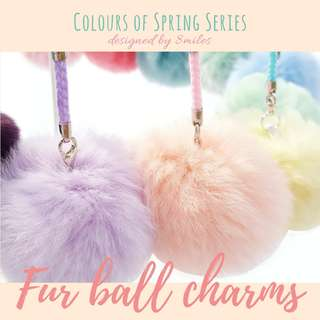 Fur Ball Charms Real Fur - Colours of Spring Series