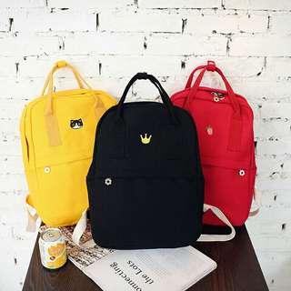 ⚠Pre-order!! Unisex Ulzzang Crown / Cat / Strawberry Bag/Backpack