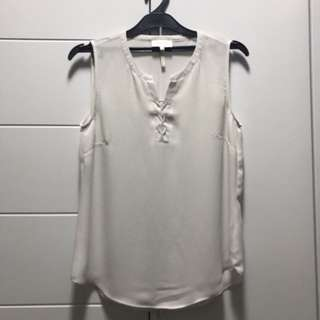 White Blouse with laced collar