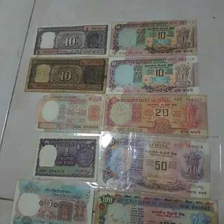 India old notes ( rupee)